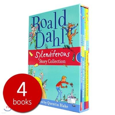로알드달 베스트 빅북 4종 박스 세트 (올컬러 일러스트판) : Roald Dahl Splendiferous Story Collection