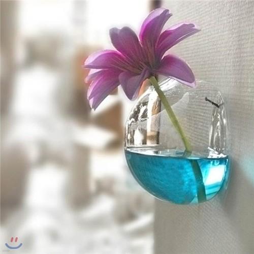 [adico] 유리꽃병 - 벽걸이
