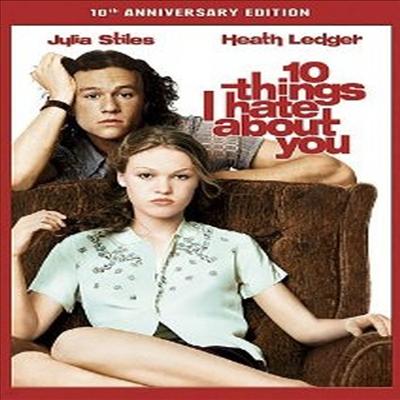 10 Things I Hate About You (내가 널 사랑할 수 없는 10가지 이유) (1999)(지역코드1)(한글무자막)(DVD)