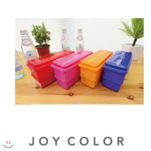 [JOY COLOR] 실리콘실 타입 2단 런치박스