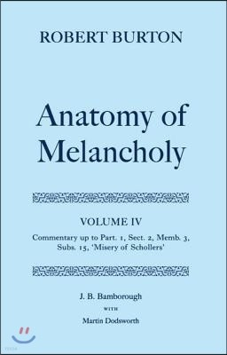 Robert Burton's the Anatomy of Melancholy