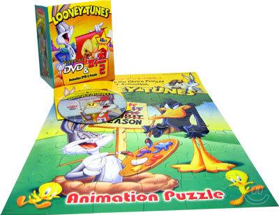 루니툰 : 휴가는 남극으로!!(우리말 녹음)+루니툰 48조각 퍼즐