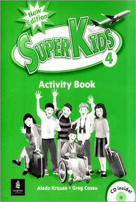 New Super Kids 4 : Activity Book with CD