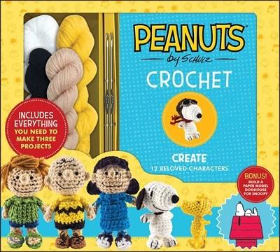 Peanuts Crochet : 피넛츠 코바늘 손뜨개 키트 (뜨개실, 코바늘 포함)