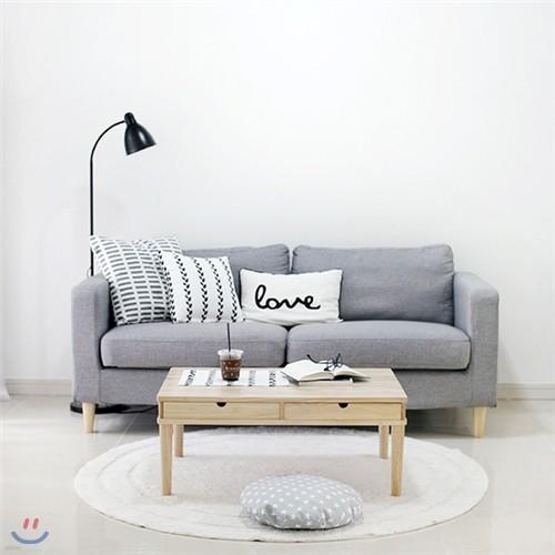 [벤트리] 원목 양면 서랍 테이블