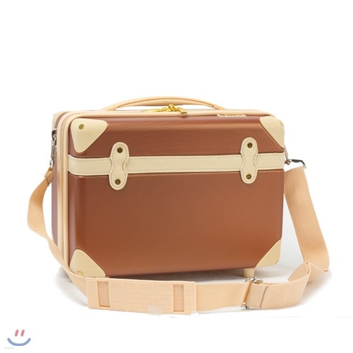 [EDDAS]에다스 EV-501 12인치 브라운 코스메틱가방 기내용 보조가방 여행용캐리어 여행가방