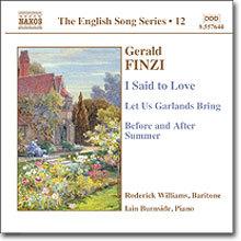 Roderick Williams 제럴드 핀치: 셰익스피어와 하디의 시에 기초한 가곡 (Gerald Finzi: I said to Love, Op. 19b)