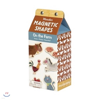 Mudpuppy On the Farm Wooden Magnetic Shapes