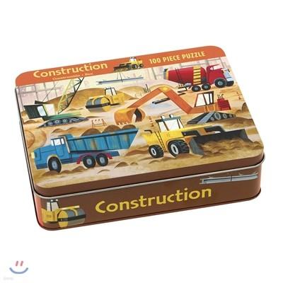 Construction 100 Piece Puzzle Tin