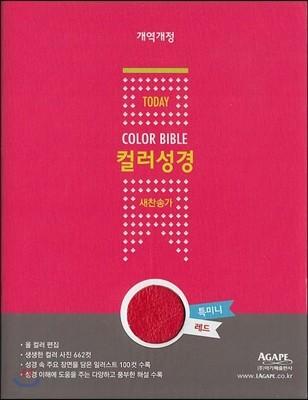 개역개정 투데이 컬러성경 새찬송가 (특미니/합본/색인/지퍼)(레드)