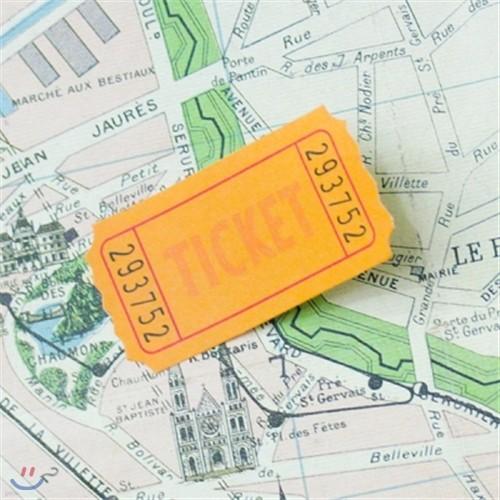 티켓 메모잇 (4색상)