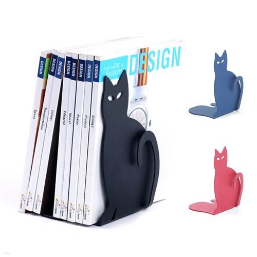 꼬리 고양이 북엔드 (3가지 색상 1세트)