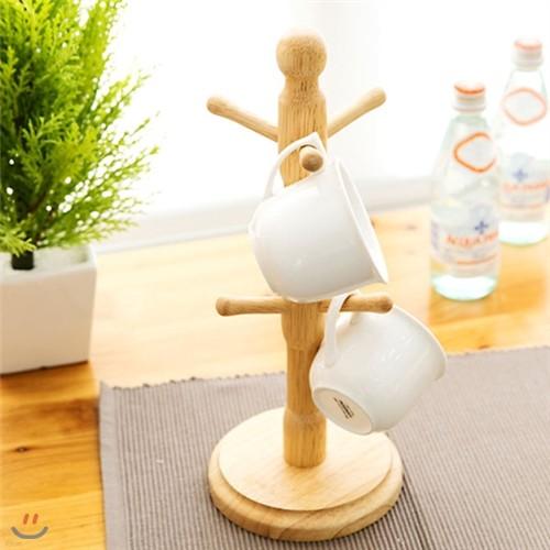 우드 원형받침 컵걸이 13Ea016