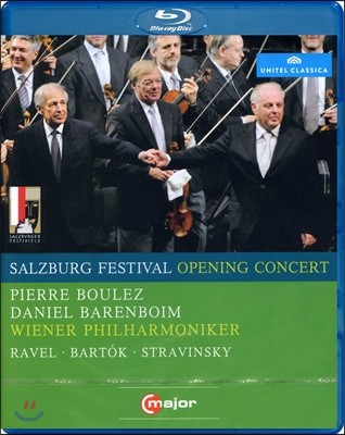 Pierre Boulez, Daniel Barenboim 2008년 잘츠부르크 페스티벌 개막 콘서트 (Salzburg Festival Opening Concert 2008 - P. Boulez) 블루레이