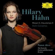 Hilary Hahn ������Ʈ & ����� : ���̿ø� ���ְ� (Mozart & Vieuxtemps : Violin Concertos) �� ��