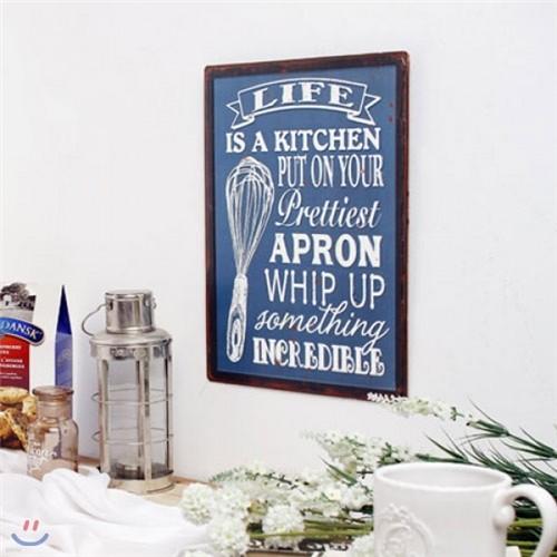 [2HOT] 키친 블루 틴 사인보드