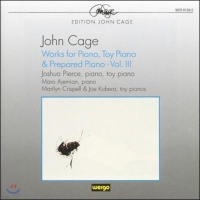 Joshua Pierce 존 케이지: 피아노, 장난감 피아노, 프리페어드 피아노를 위한 작품 3집 (John Cage: Works for Piano, Toy Piano, Prepared Piano)