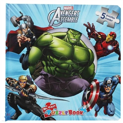 My first puzzle book : Marvel Avengers assemble