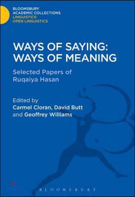 Ways of Saying