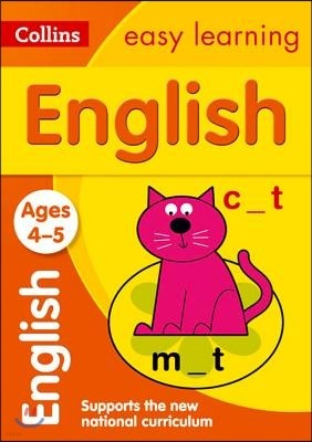 Collins Easy Learning Age 3-5 -- English Ages 4-5: New Edition