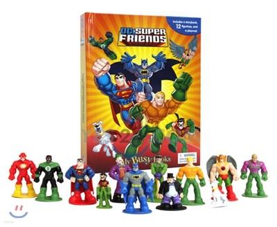 Dc Super Friends Busy Book DC 슈퍼맨 배트맨 플래시맨 비지북 피규어책