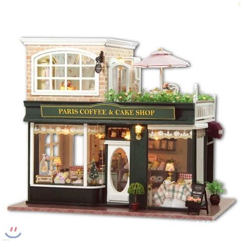 [adico] DIY미니어처 풀하우스 - 파리 커피 케익샵