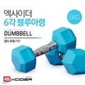 엑사이더 6각 블루아령 MD2102 6kg x 2세트/덤벨