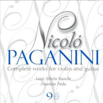 파가니니 : 바이올린과 기타를 위한 작품 전집 (Paganini : Complete Works for Violin and Guitar) (9CD) - Luigi Alberto Bianchi