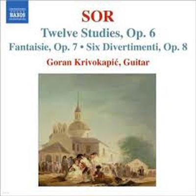 소르 : 12개의 연습곡, 서주와 모차르트 주제의 변주곡 & 환상곡 (Sor : 12 Studies, Op.6) - Goran Krivokapic