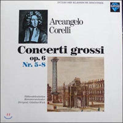 [중고] [LP] Gunther Wich / Corelli : Concerti Grossi Op.6 Nr.5-8 (수입/int120896)