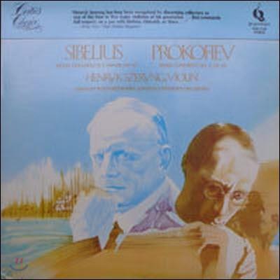[중고] [LP] Henryk Szeryng, Gennady Rozhdestensky / Sivelius : Violin Concerto in D minor, Prokofiev : Violin Concerto No.2 (수입/pmc7150)