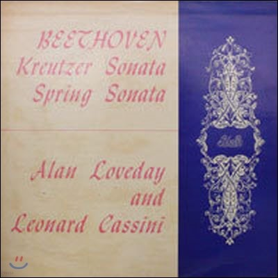 [중고] [LP] Alan Loveday, Leonard Cassini / Beethoven : Violin Sonatas No.5 & 9 (수입/atl4060)