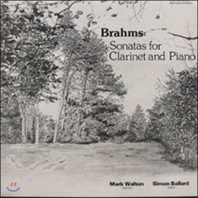 [중고] [LP] Mark Walton, Simon Ballard / Brahms : Sonatas for Clarinet and Piano (수입/evy002)