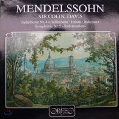 [중고] [LP] Sir Colin Davis / Mendelssohn : Symphonien Nr.4 & 5 (수입/s132851a) - sr271