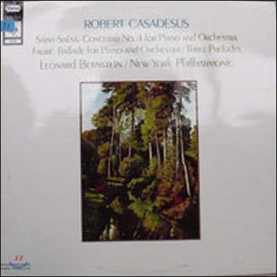 [중고] [LP] Robert Casadesus, Leonard Bernstein / Saint-Saens : Concerto No.4, Faure : Ballade, 3 Preludes (수입/72105)