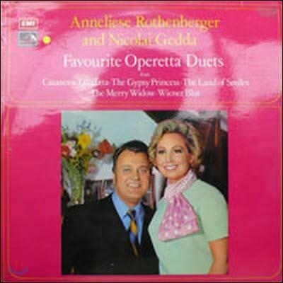 [중고] [LP] Annekuese Rothenberger & Nicolai Gedda / Favourite Operetta Duets (수입/csd3748)