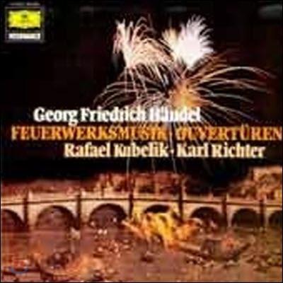 [중고] [LP] Rafael Kubelik, Karl Richter / Handel : Feuerwerksmusik 왕궁의 불꽃놀이 음악, Ouverturen 서곡 (selrg845)