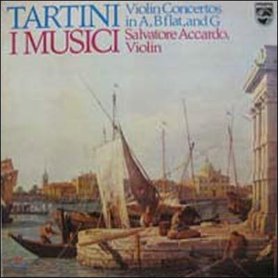 [중고] [LP] I Musici, Salvatore Accardo / Tartini: Violin Concertos in A, B flat, and G (sel100413)