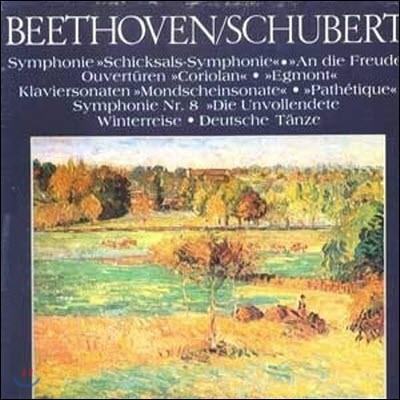 [중고] [LP] V.A. / The Classic Library Of The Great Masters (Beethoven/Schubert) 세계명곡대전집 (하드박스/6LP/srbk0153~8)