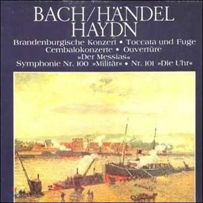 [중고] [LP] V.A. / The Classic Library Of The Great Masters (Bach/Handel/Haydn) 세계명곡대전집 (하드박스/6LP/srbk0165~0170)