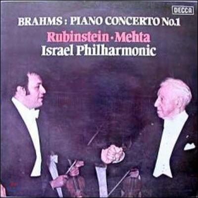 [중고] [LP] Artur Rubinstei, Zubin Mehta / Brahms : Piano Concerto No.1 (sel0368)