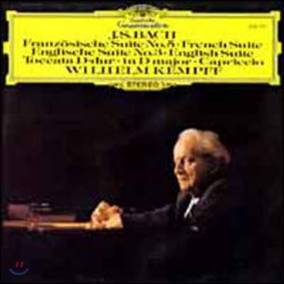 [중고] [LP] Wilhelm Kempff / Bach : French Suite, English Suite, Toccata in D, Capriccio (sel200305)