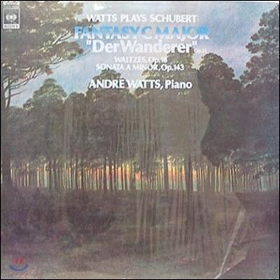 [중고] [LP]  Andre Watts / Plays Schubert: Der Wanderer op.15, Etc. (kjcl5066)