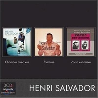 Henri Salvador / Chambre Avec Vue, S'Amuse, Zorro (3CD/수입/미개봉)
