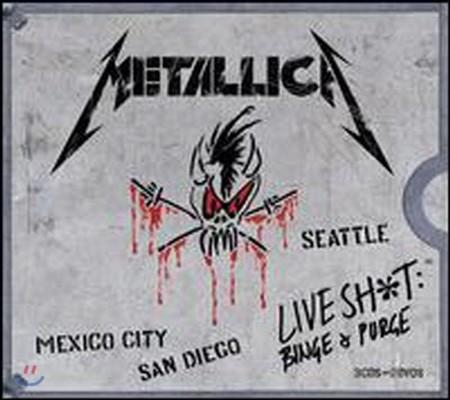 [중고] Metallica / Live Shit - Binge & Purge (3CD+2DVD+3VHS/수입/박스)