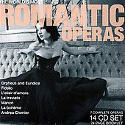 로맨틱 오페라 걸작 전곡 7선 - 오르페오와 에우리디체, 피델리오, 사랑의 묘약, 라트라비아타, 마농, 라보엠, 안드레아 셰니에 (24 Page Booklet)(14CD Boxset) - 여러 연주가