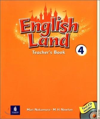 English Land 4 : Teacher's Book with Audio CD(1)