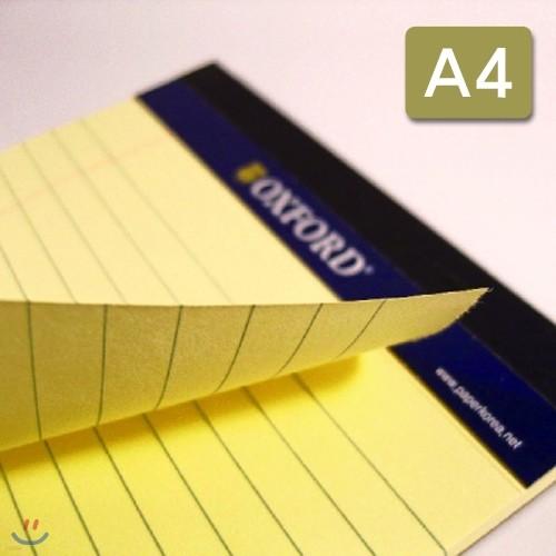 [YES24발송] 옥스포드 1500 리갈패드 프로패드 A4(노랑색)