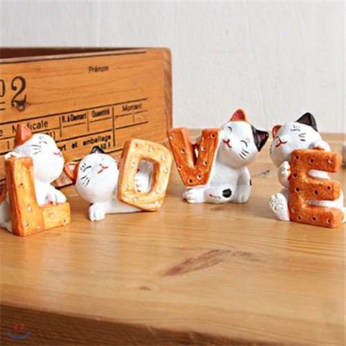LOVE CAT 미니어처 오너먼트 4P SET [0179268325]