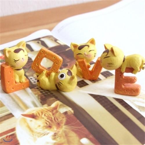 LOVE YEOLLOW CAT 미니어처 오너먼트 4P SET [0179268319]